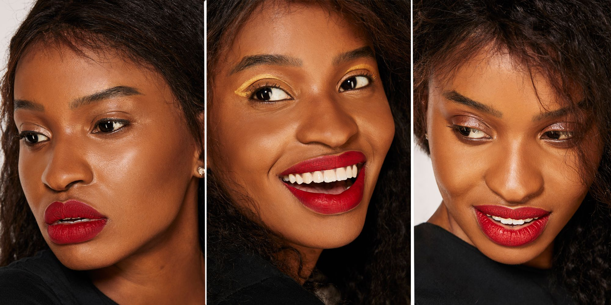 Fenty Beauty Sunna Lip Paint in Uncensored worn three ways