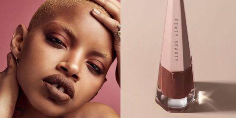 rihanna s latest fenty beauty drop is the ultimate 90s brown lipstick