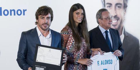 formula 1 pilot fernando alonso is named honour member of real madrid football club