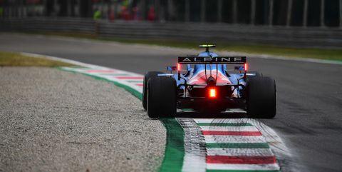 fernando alonso durante los libres del gran premio de italia de 2021