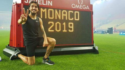 Fernando Carro, récord de Españaen la Liga de Diamante de Mónaco