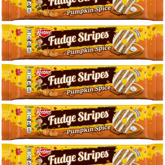 ferrara keebler fudge stripes pumpkin spice cookies