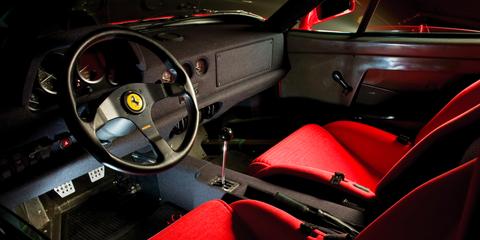 Land vehicle, Vehicle, Car, Steering wheel, Steering part, Center console, Ferrari mondial, Coupé, Race car,