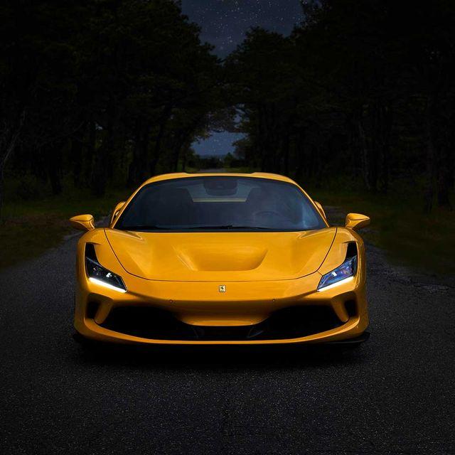 ferrari f8 spider 2020 yellow
