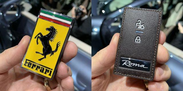 Ferrari Roma Supercar Key Is Just A Big Ferrari Badge