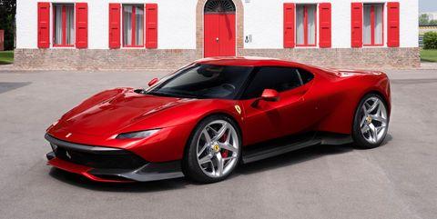 Land vehicle, Vehicle, Car, Supercar, Automotive design, Red, Sports car, Coupé, Rim, Performance car,