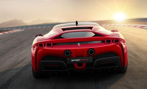 Land vehicle, Vehicle, Supercar, Sports car, Automotive design, Car, Red, Performance car, Race car, Coupé,