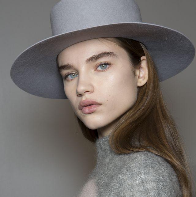 Hair, Face, Clothing, Hat, Lip, Beauty, Fashion, Chin, Fashion accessory, Headgear,