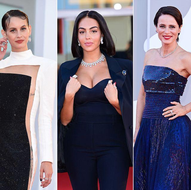 """sara sampaio, milena smit, georgina rodríguez, aitana sánchez gijón y helen mirren en la alfombra roja de """"madres paralelas"""" en el festival de cine de venecia"""