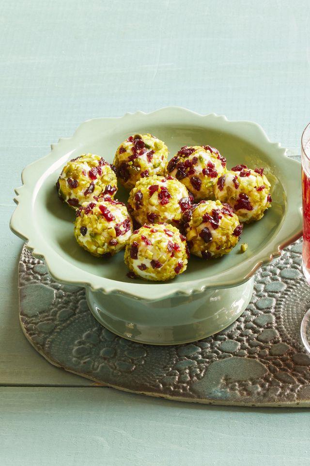 festive goat cheese balls