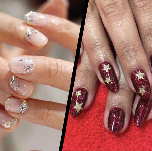 Chic Christmas nail art designs - Festive nail art ideas