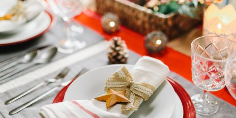 festive place setting - Restaurants Open Near Me Christmas Day