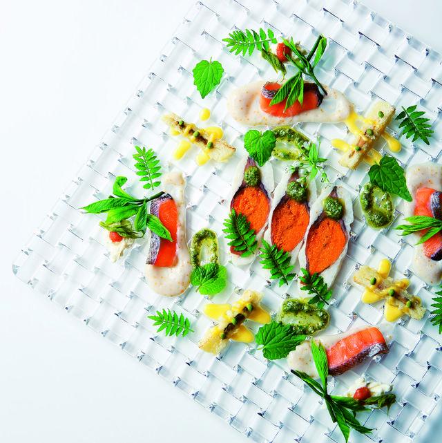 Dish, Cuisine, Garnish, Food, À la carte food, Recipe, Vegetarian food, Produce, Ingredient, Vegan nutrition,