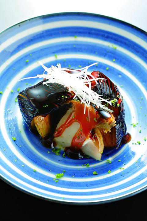 賀茂茄子と鮑の炊き合わせ おたぎ 京都