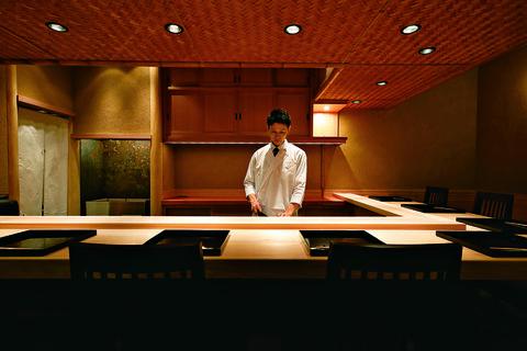 店主の中江悠文さん。日本料理 淡流
