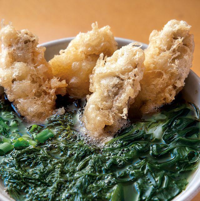 Dish, Food, Cuisine, Ingredient, Comfort food, Wakame, Produce, Leaf vegetable, Deep frying, Vegetarian food,