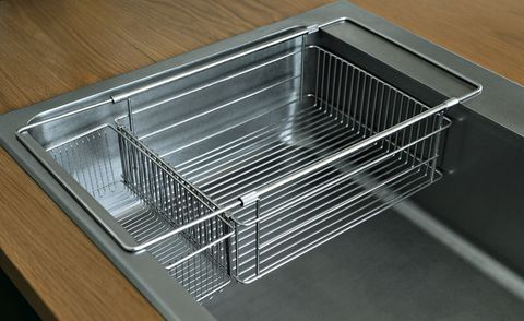 シンクインバスケット&水切りかごセット la base|作業スペースを確保しキッチンをすっきり