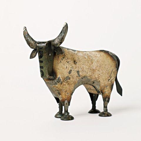 リサイクルブリキの牛