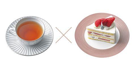 シンレス カフェの「ニルギリ」(左)とアトリエうかいの「プレミアムショートケーキ」(右)