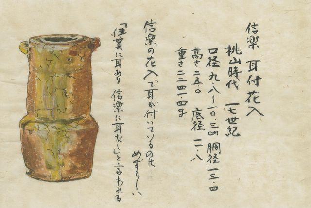 《信楽耳付花入》野村美術館蔵