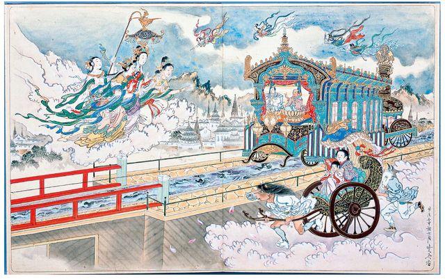 河鍋暁斎 《地獄極楽めぐり図》 明治2~5年(1869~72) 静嘉堂文庫美術館所蔵