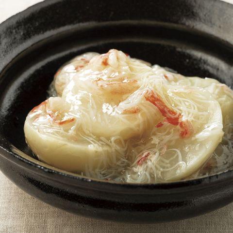 「野菜出汁」かぶの蟹あんかけ