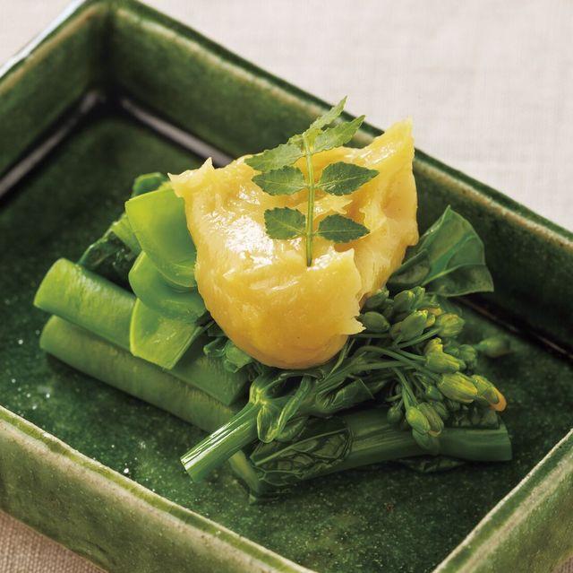 緑野菜の酢味噌がけ