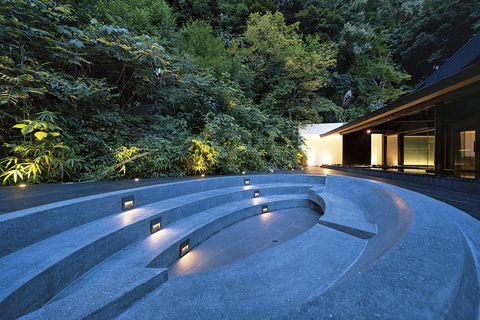 御船山楽園ホテル 外気浴スペース
