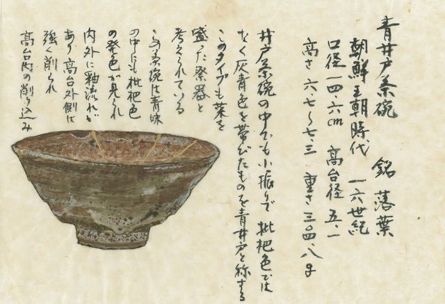 「青井戸茶碗 銘 落葉」