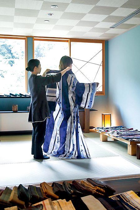 星のや京都 浴衣着付け
