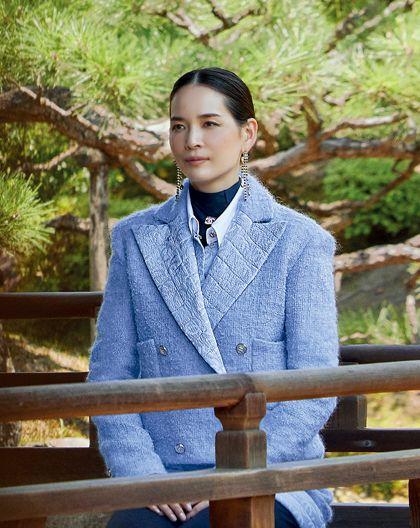 chanel「ライラック色のジャケット」