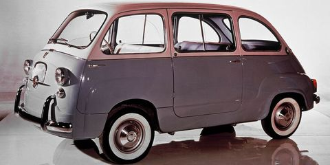 Land vehicle, Vehicle, Car, Motor vehicle, Fiat 600, Classic car, City car, Subcompact car, Automotive wheel system, Rim,