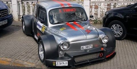 Widebody Hayabusa Powered Fiat 500 Hillclimb Video