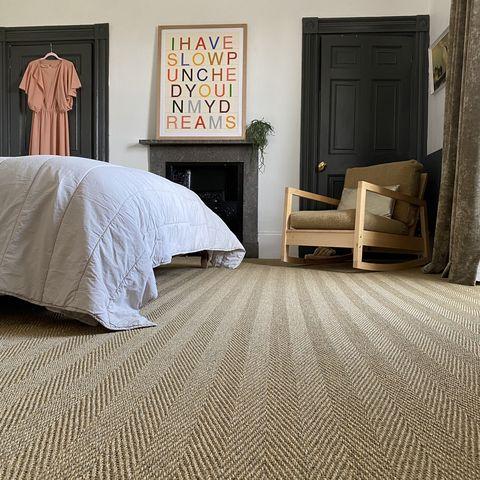 fibre flooring sisal havana sienna and bedfolk quilt in clay