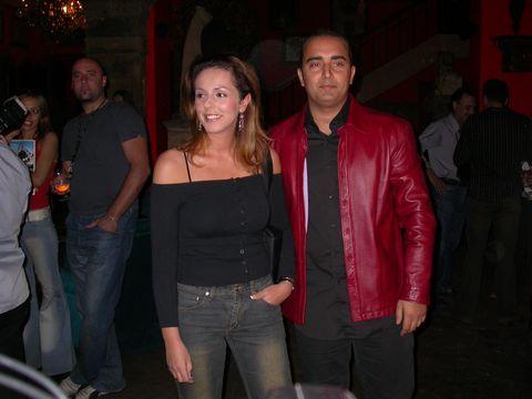 rocio carrasco con novio fidel albiach durante un acto publico