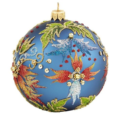 fiery glitter christmas bauble