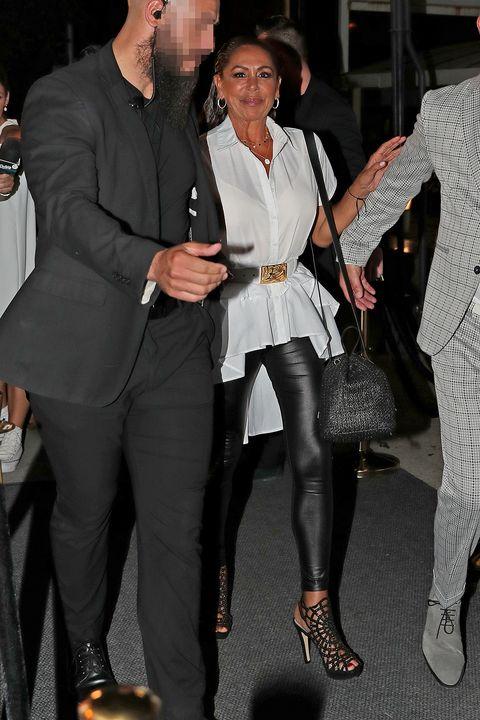 Suit, Fashion, Event, Footwear, Formal wear, Outerwear, Tights, Blazer, Shoe, Dress shirt,