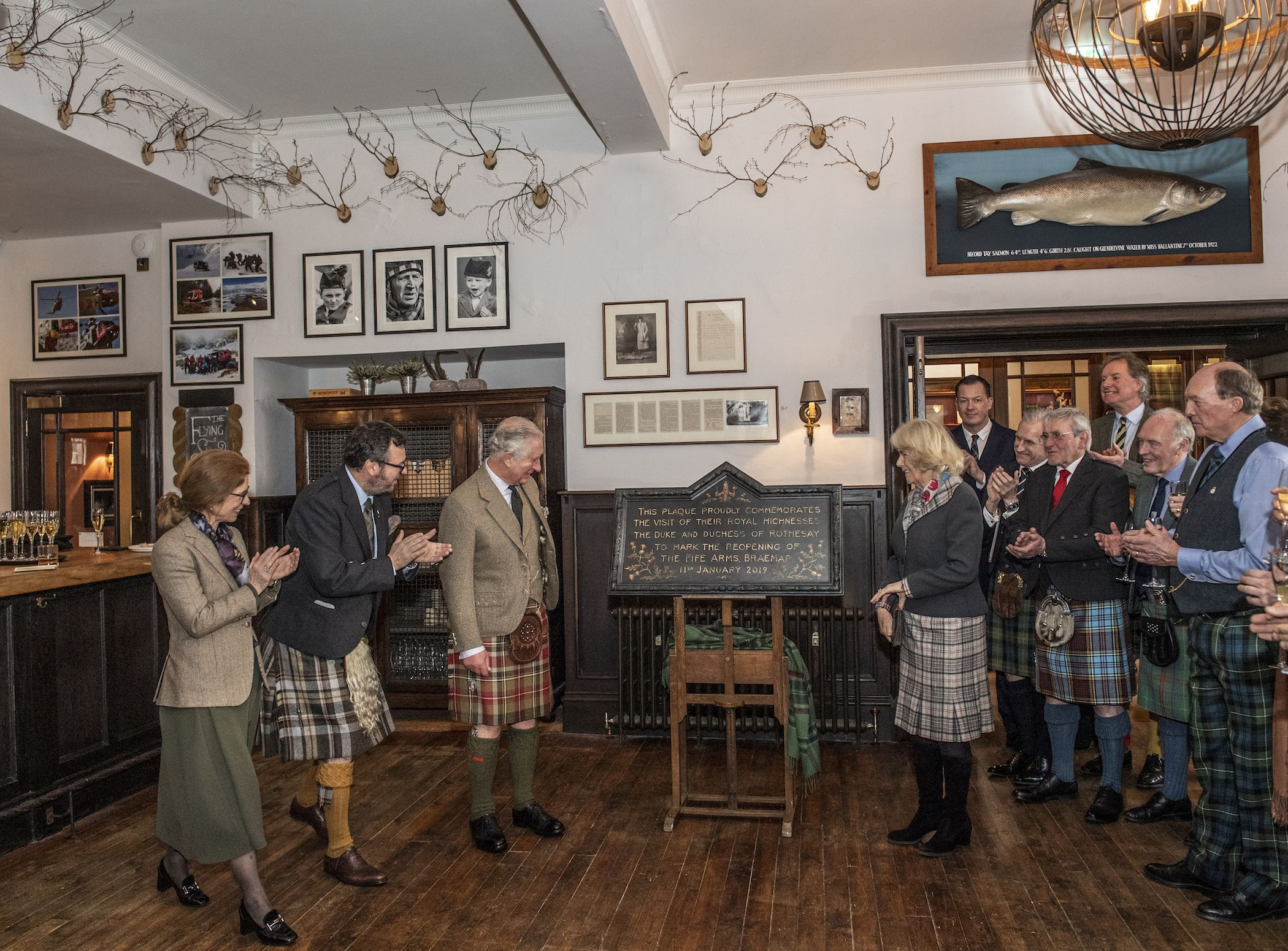 Prince Charles and Camilla Tour the Newly Renovated Fife Arms, Which Features Art by Queen Victoria