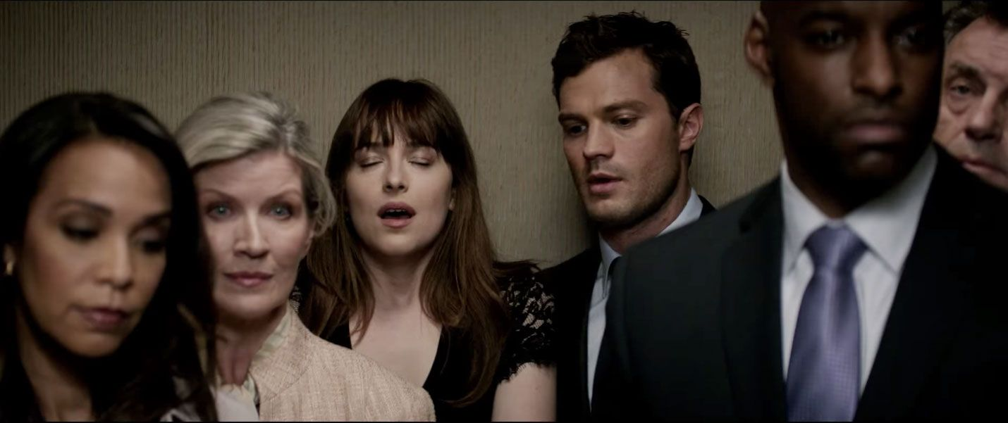 Image result for 50 shades darker lift scene