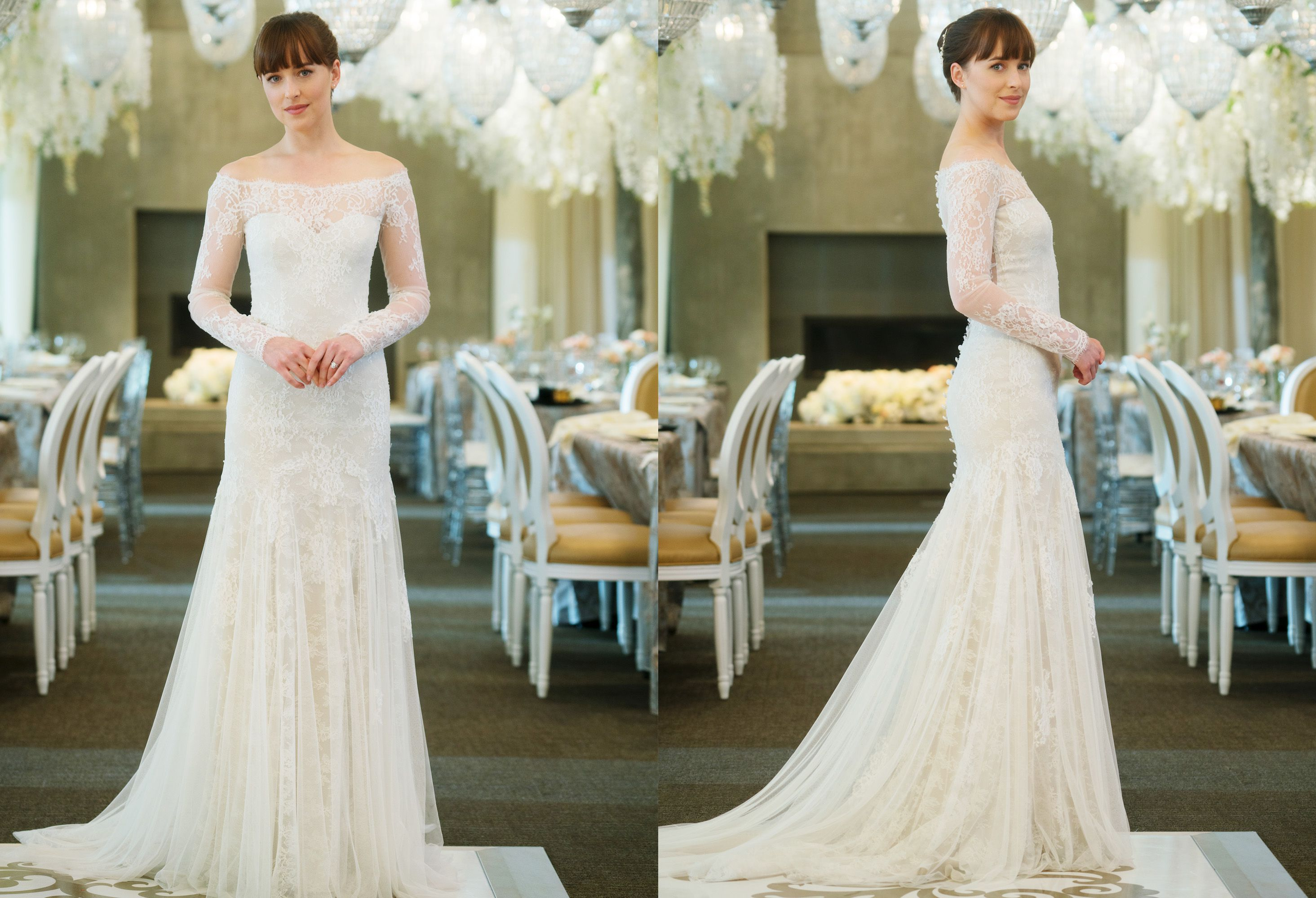 Fifty Shades Freed Dakota Johnson Wedding Dress