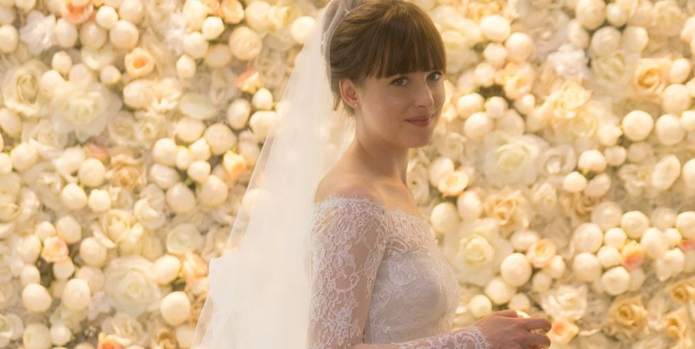 Fifty Shades Freed Wedding Dress Interview Monique Lhuillier Where To Buy Monique Lhuillier Fifty Shades Dress