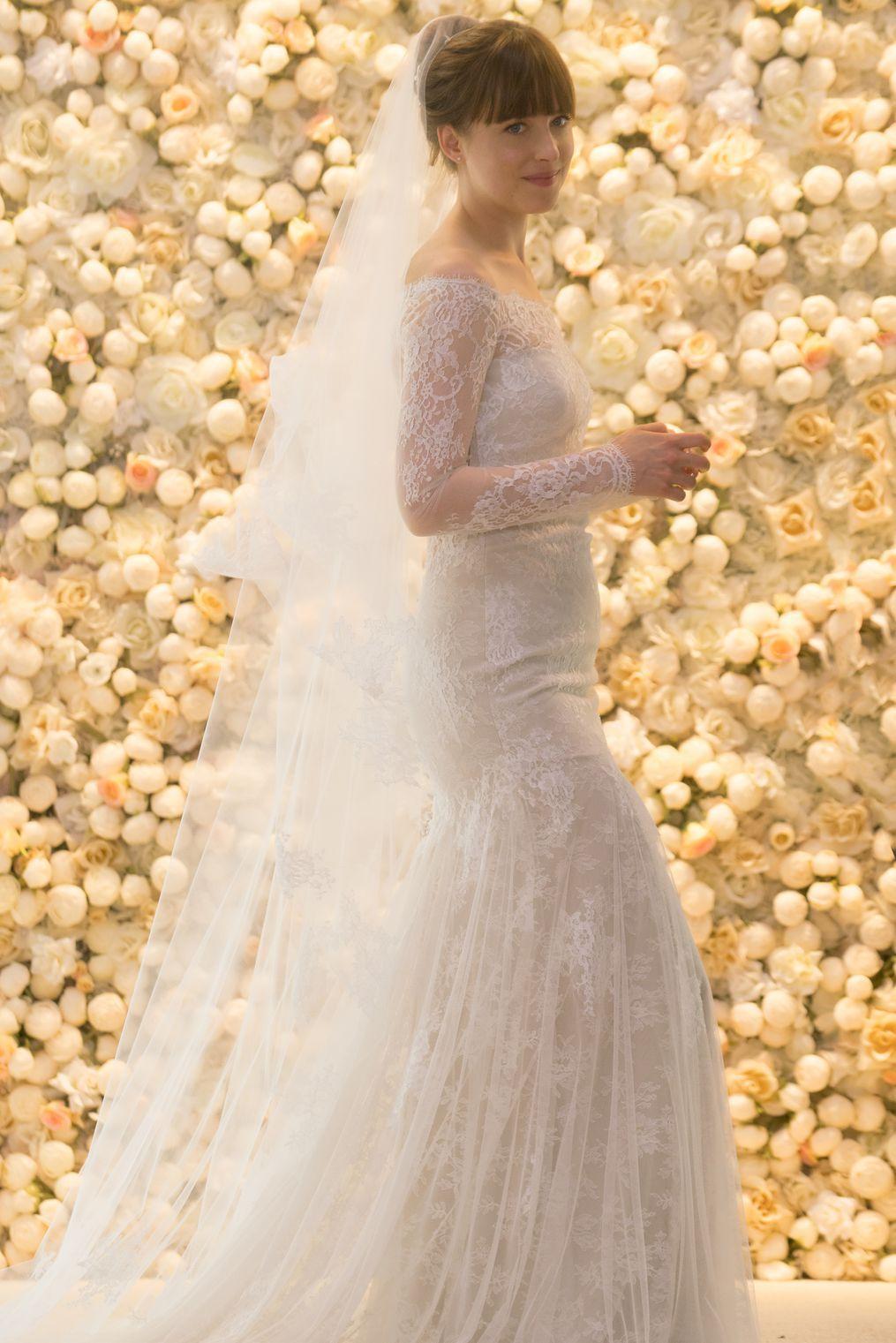 Fifty Shades Freed Dakota Johnson Wedding Dress