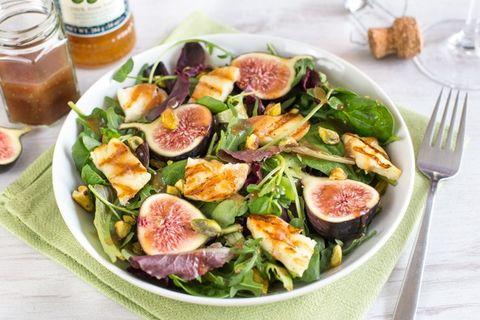 salade de figues et halloumi