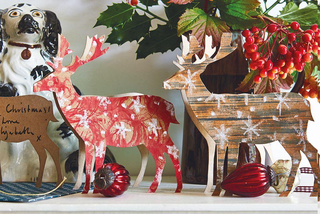 Manualidades: Tarjetas de Navidad con forma de reno