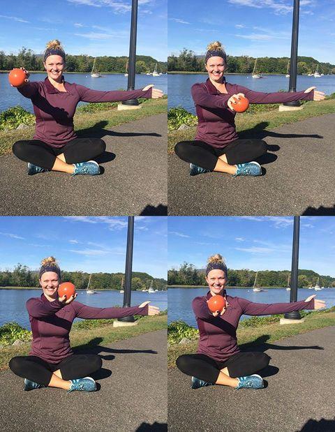 Figure 8 arm exercises