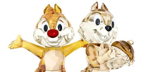 Figurita de cristal de Swarovsky de Chip y Chop de Disney