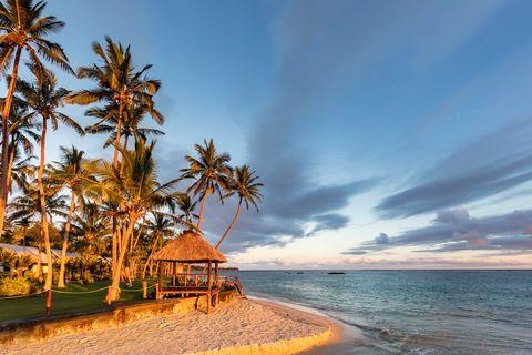 Fiji Island Beach Hut Sunset Coral Coast Viti Levu
