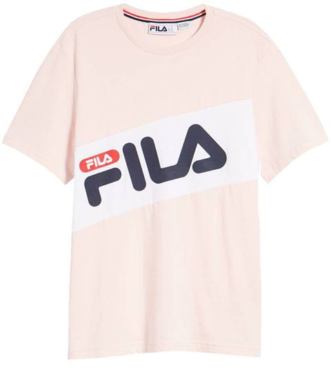 Clothing, T-shirt, White, Sleeve, Orange, Active shirt, Text, Pink, Top, Font,