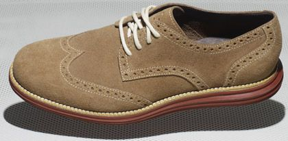 reputable site b8dc3 ebd40 It s basically business up top, party underneath. The company married the  suede upper of a wingtip dress shoe with a Lunarlon ...