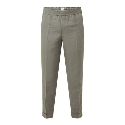 filippa k m terry straight fit pantalon in lyocellblend